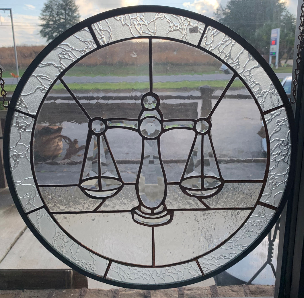 18 in Circle Symbol of Justice Panel