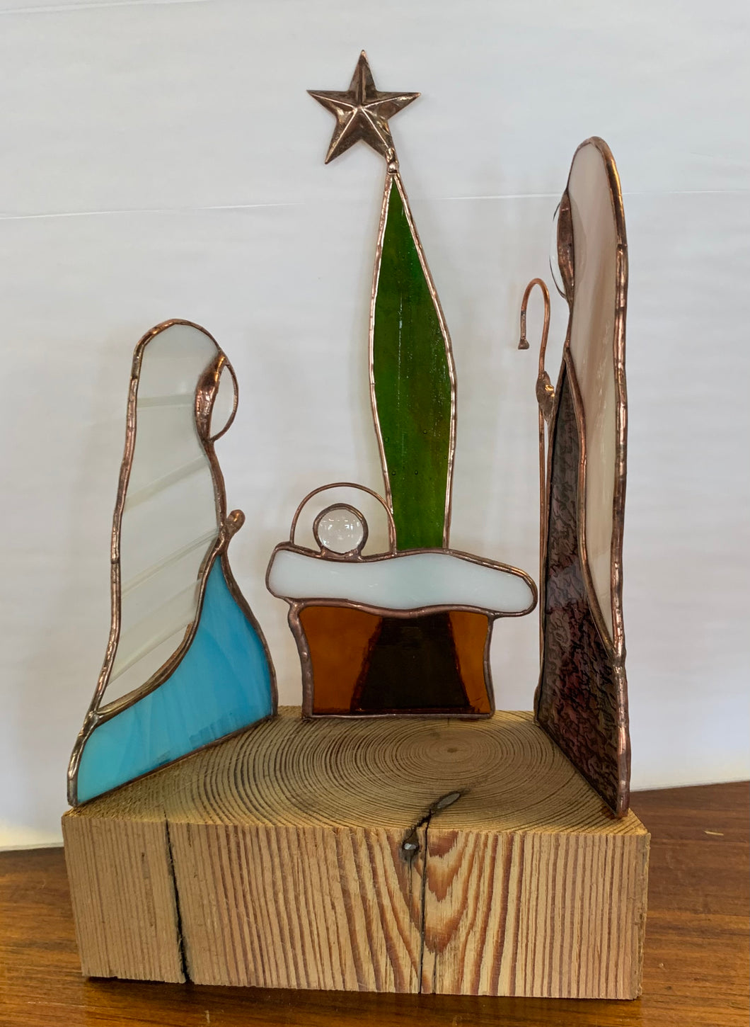 3 Piece Nativity on Wood
