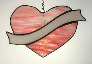 Lg Hanging Heart with Sash