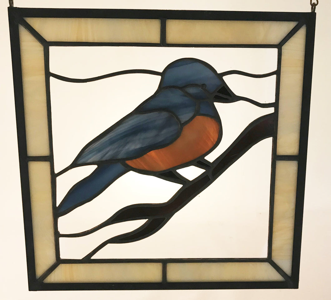 12 X 12 Square Blue Bird Panel