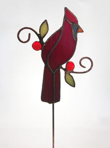 Small Bird with Leaves and Berries on Stick $45