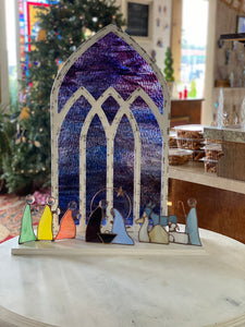 Cathedral window Backdrop for Nativity