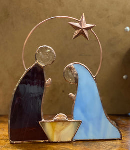 Primitive 3 Piece Nativity Set