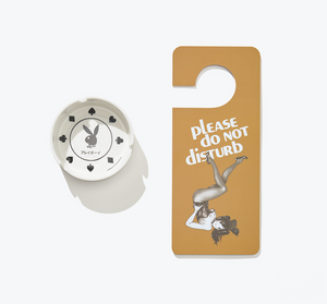 Ash Tray & Do-Not-Disturb Sign Set