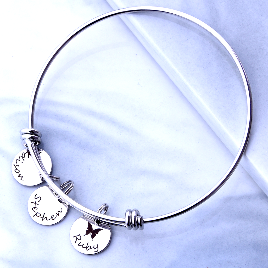 Custom Bracelet with Kids Names, Personalized Mom Gift, Mother's Bracelet,  Auntie Gift