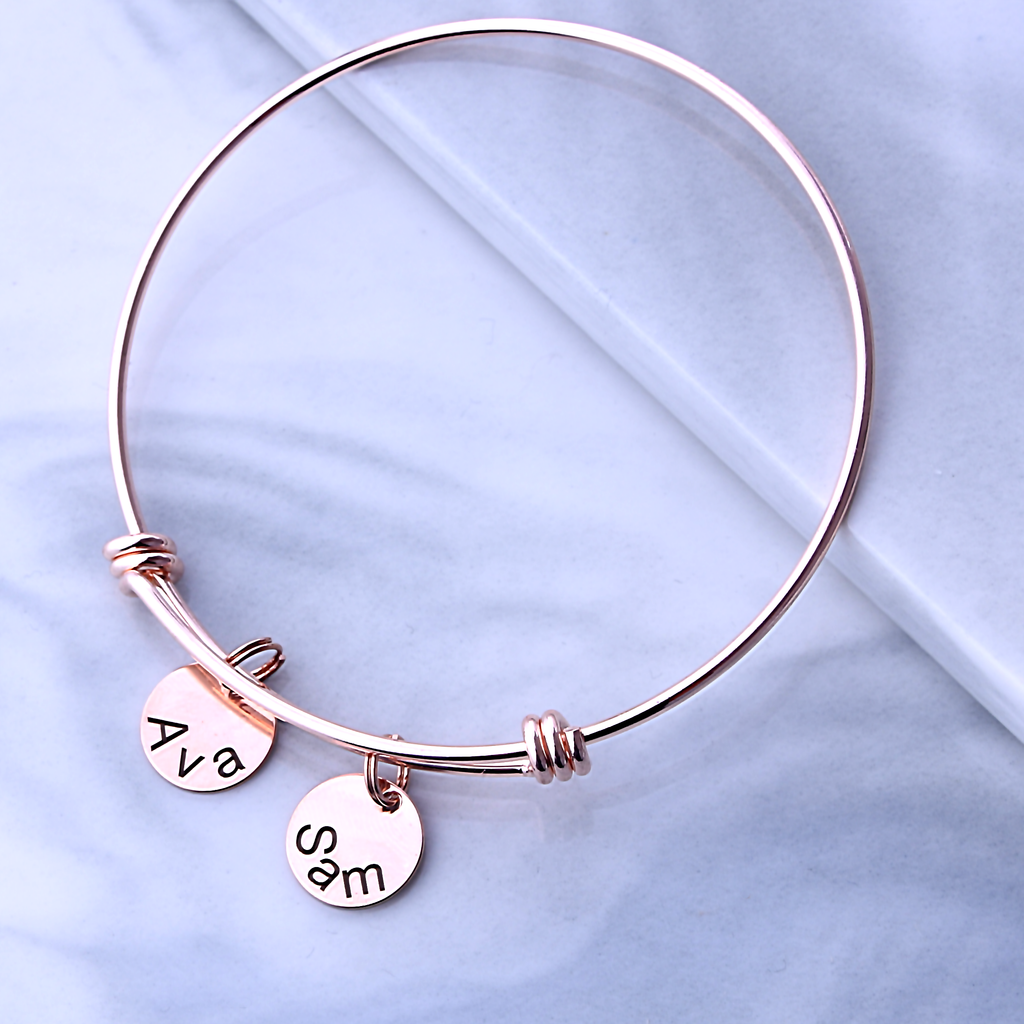 Name Bangle Bracelet,Mothers Day Gift,Custom Name Bracelet