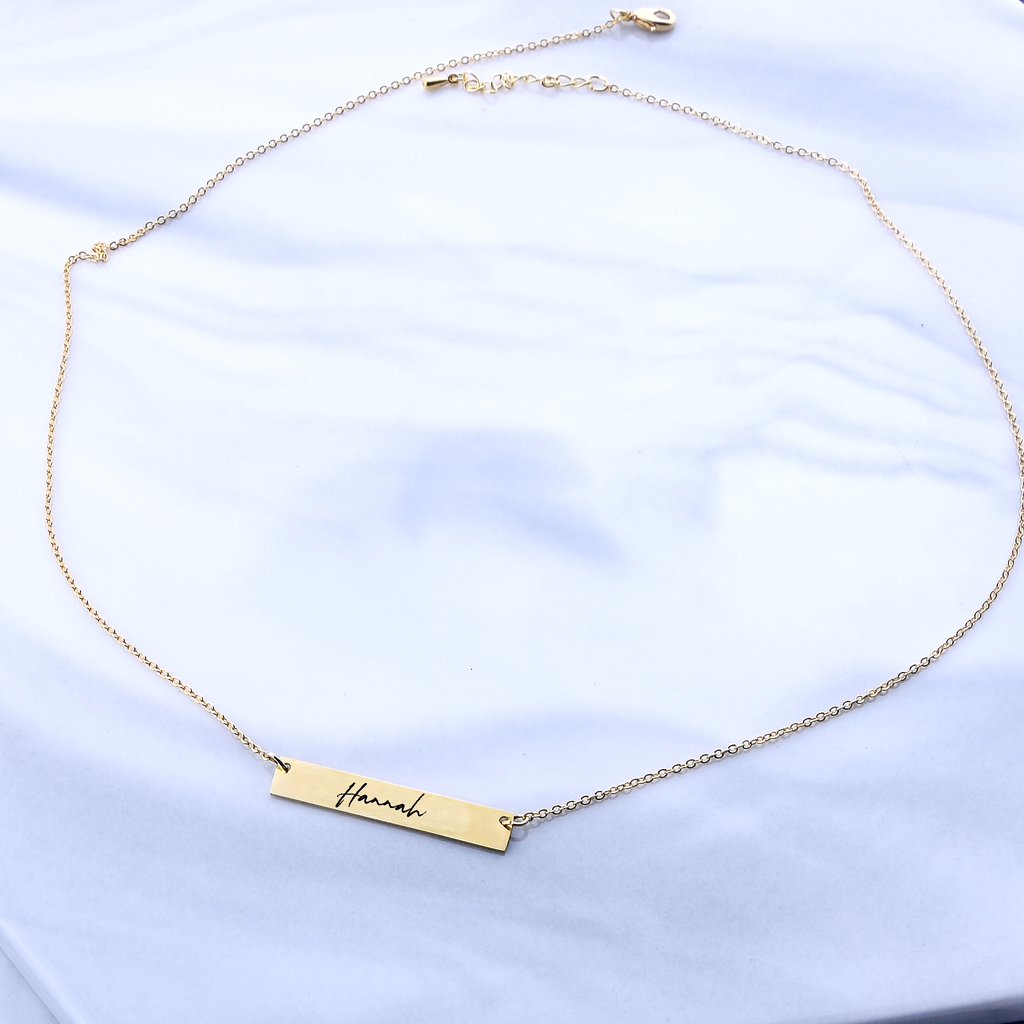Personalized Necklace Gift For Her Personalized Bar Necklace For Women