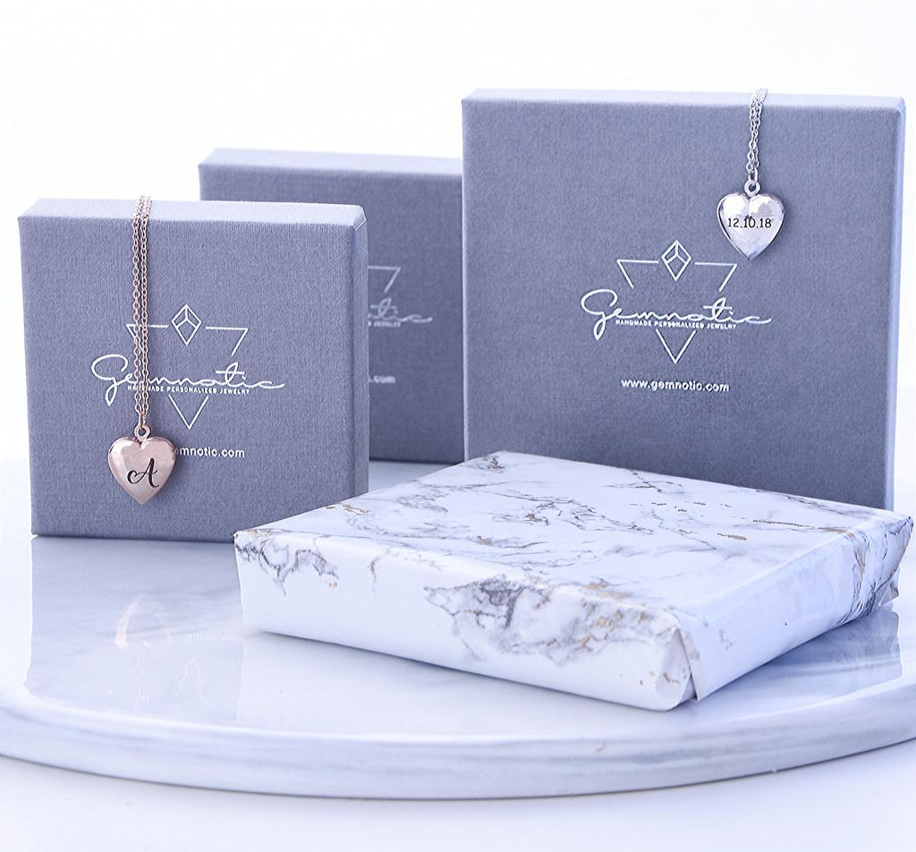 Build your own heart and initial bracelet- gifts for mom