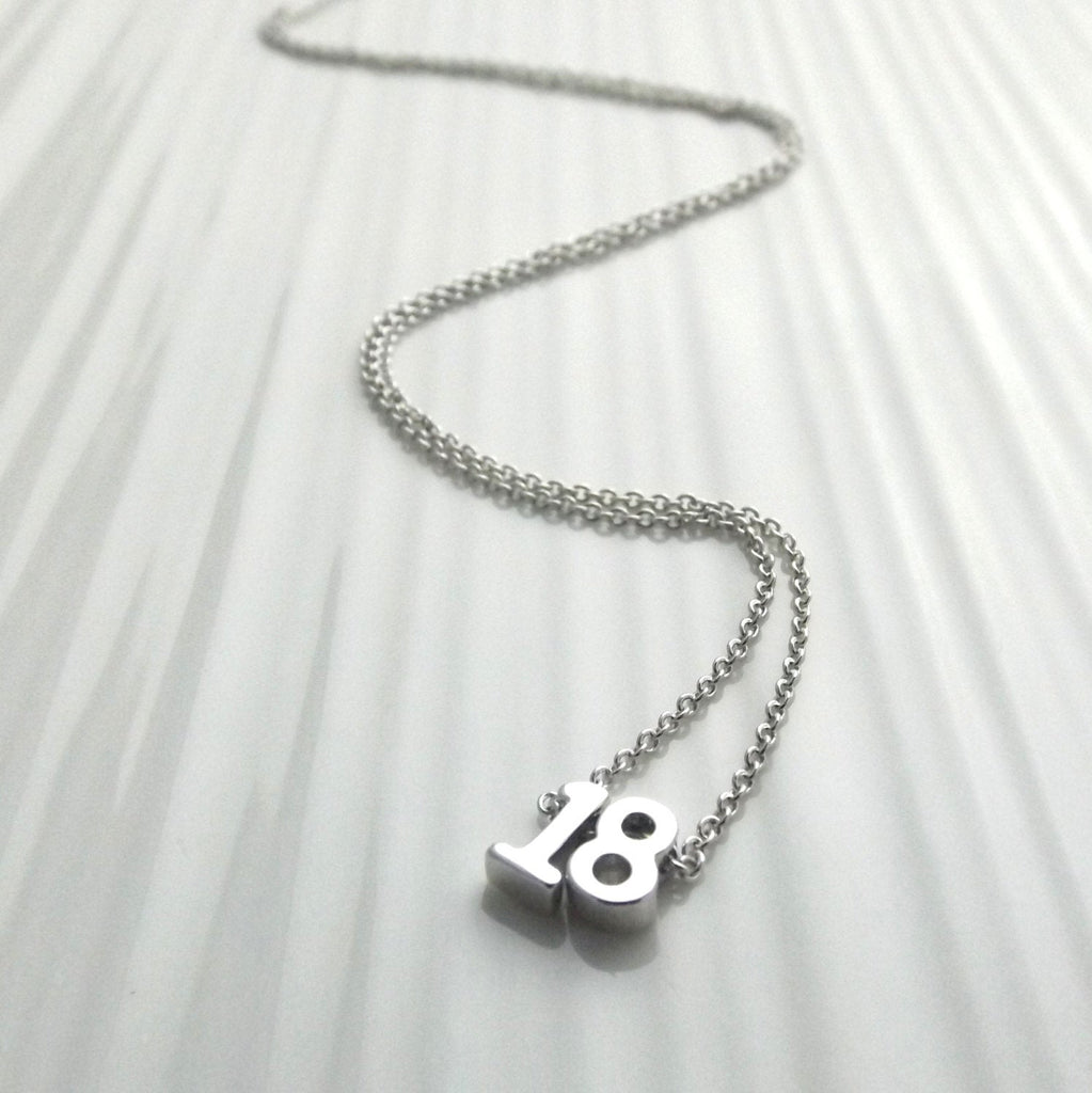 Lucky Number Necklace• Double Number Necklace• Year Necklace• Sweet 16 Birthday Gift•  18th 21st Birthday Gift Idea• Birthday Jewelry