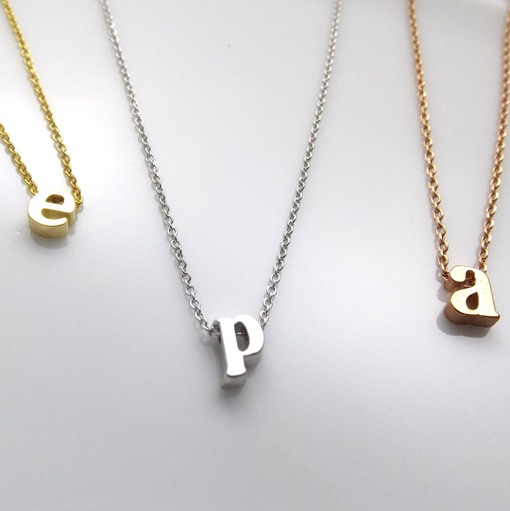 Dainty initial choker necklace in silver rose gold or 16k gold plated- initial letter necklace- minimalist choker necklace- gifts for her