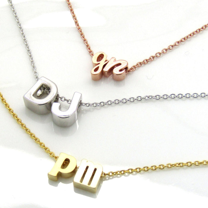 Double Initial Necklace• Lowercase Cursive Uppercase Two Initials Necklace • Couples Necklace• Bridal Necklace• Wedding Anniversary Gift