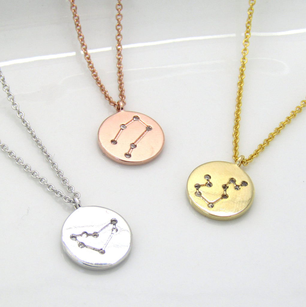 Zodiac Constellation Choker • Celestial Choker•Zodiac Necklace•Constellation Jewelry•Star Sign Choker Necklace• Silver Gold Rose Gold Choker