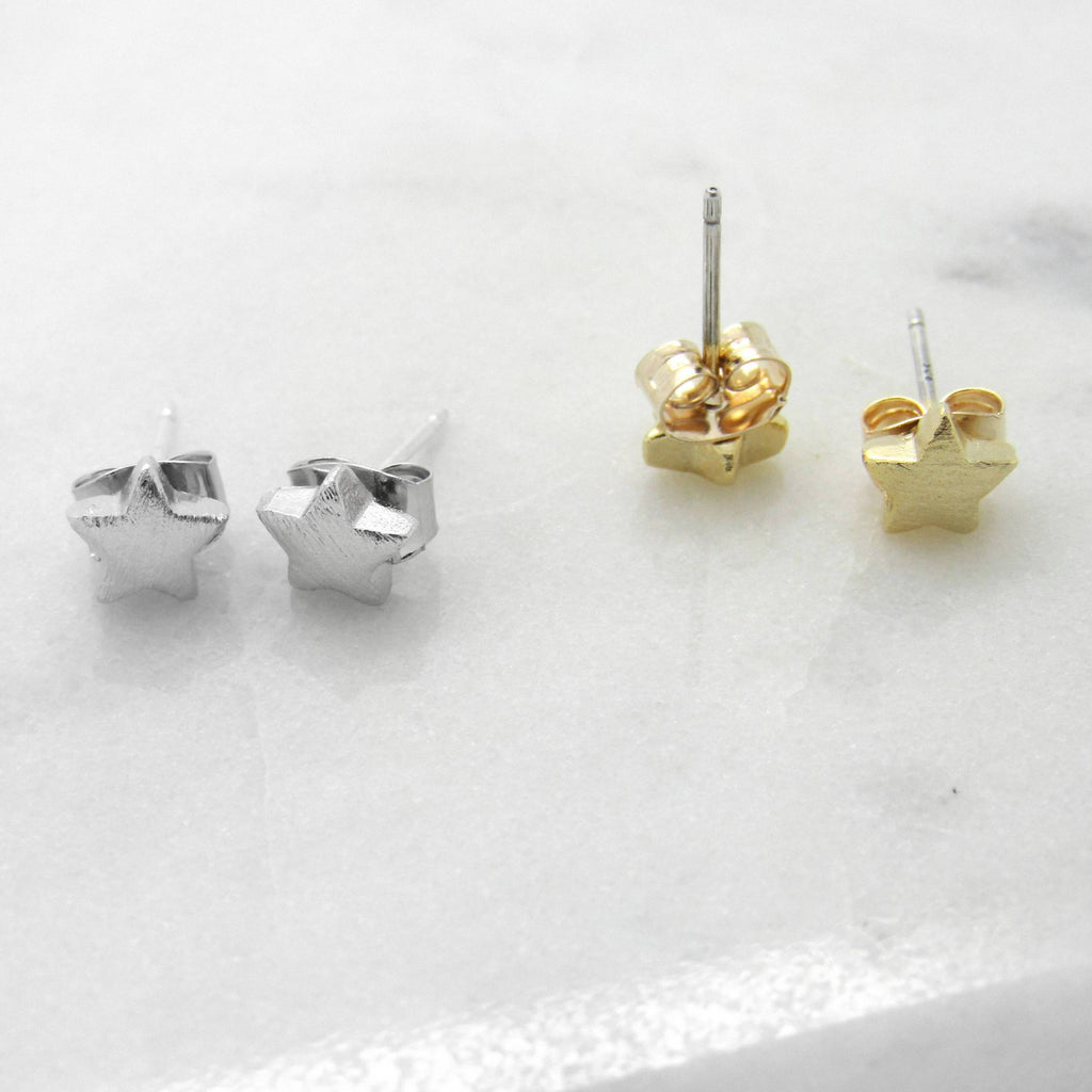 Tiny Star Earrings Sterling Silver or Gold//Single or Pair//Tiny Cartilage Stud//Small Minimalist Earrings//Tiny Earrings//Bridesmaid Gift//