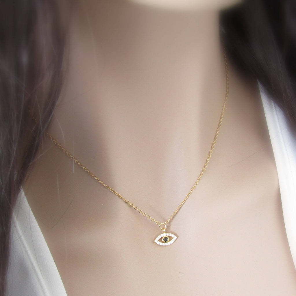 Evil Eye and Initial Choker-Personalized Evil Eye Necklace-Evil Eye Jewelry-Personalized Chokers-Women's Necklaces Gifts For Her-Lucky Eye