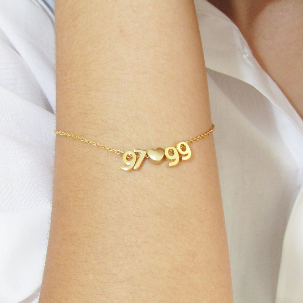 Date Bracelet, Silver, Rose Gold or 16k Gold Plated