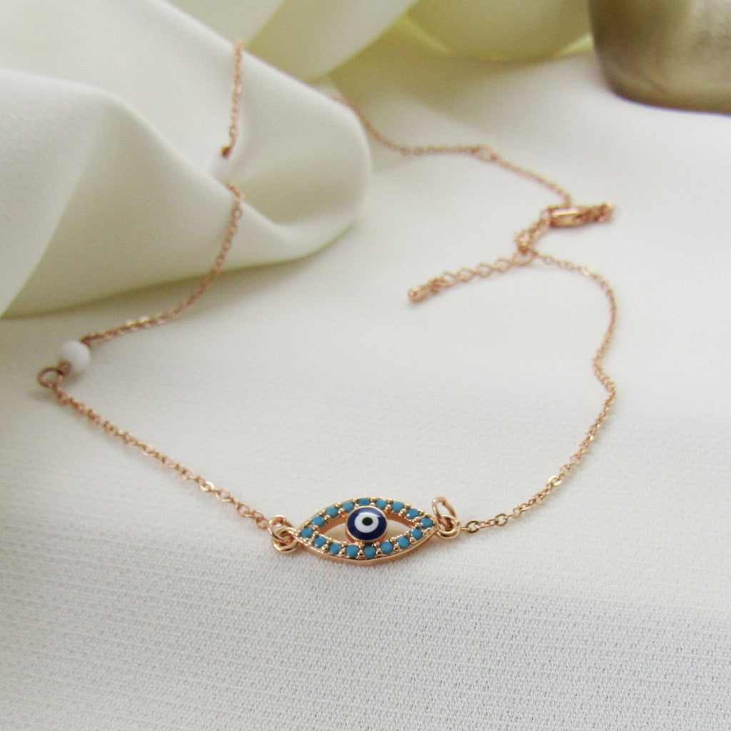 Evil eye necklace, greek evil eye choker, evil eye jewellery