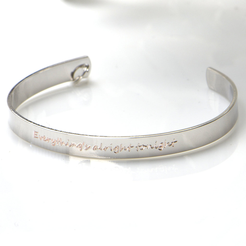 Personalized Bracelet for Women Gifts for Mom Personalized Cuff Inspirational Engraved Bracelet Special Message Bracelet Custom Bracelet