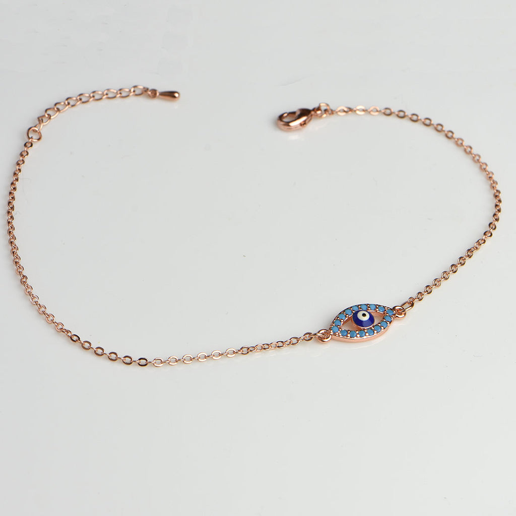 Evil Eye Bracelet Blue Evil Eye Jewelry Silver Rose Gold 16k Gold Plated Greek Jewelry Good Luck Gifts Best Friend Gift Lucky Eye Bracelet
