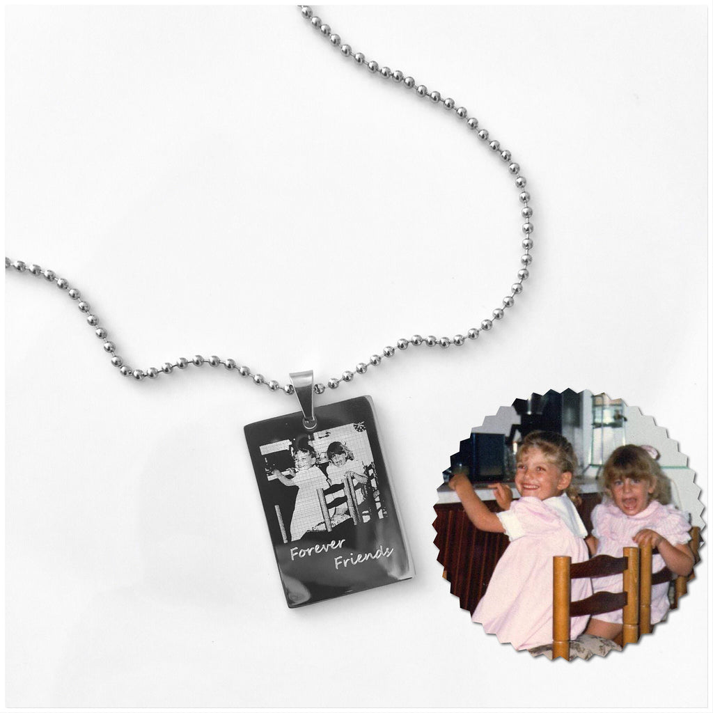 Photo Necklace Personalised Necklace Best Friend Gift Picture Necklace Engraved Necklace Gifts for Her Birthday Gift Ideas Photo Jewelry