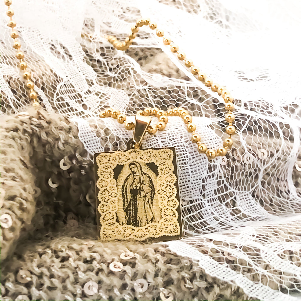 Virgin Mary Guadalupe Necklace Our Lady Of Guadalupe Necklace Catholic Jewelry Gifts Virgen de Guadalupe Necklace Madonna Necklace