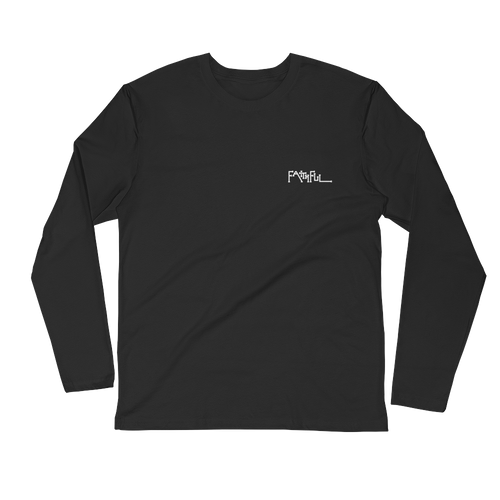 Faithful Original Black Long Sleeve Fitted Crew