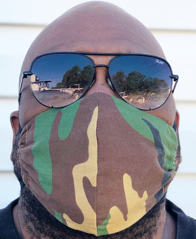 Adult Full Coverage Masks - Customizable Elastic - Camo