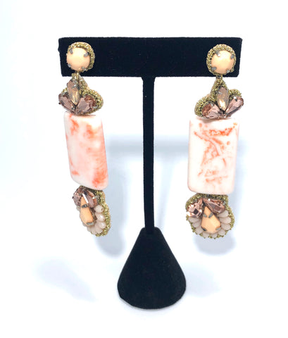 Rosey Dangle Earrings - Signature Collection