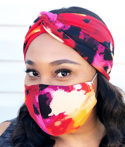 Adult Full Coverage Masks - Customizable Elastic - Watercolor - SOLD OUT