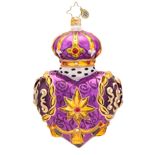 Christopher Radko Regal Heart 1017513 Luxe Ornate Purple Heart
