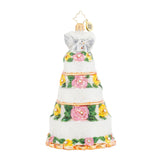 Christopher Radko BRIDAL CENTERPIECE 1017934 Wedding Cake