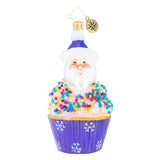 Christopher Radko Cupcake Sprinkle Kringle Santa Sweets 1019482