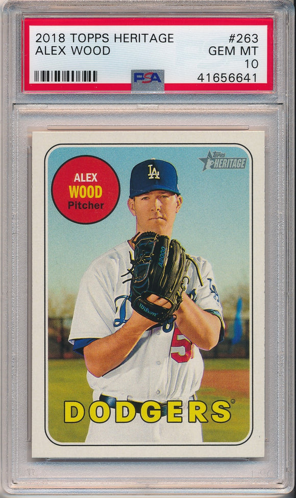 2018 Topps Heritage #263 ALEX WOOD - PSA 10 GEM - POP 2
