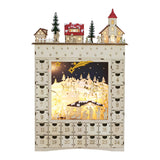 Flourish ADVENT COUNTDOWN CALENDAR 2019 Laser Cut Wood 6005177 Lighted Nativity