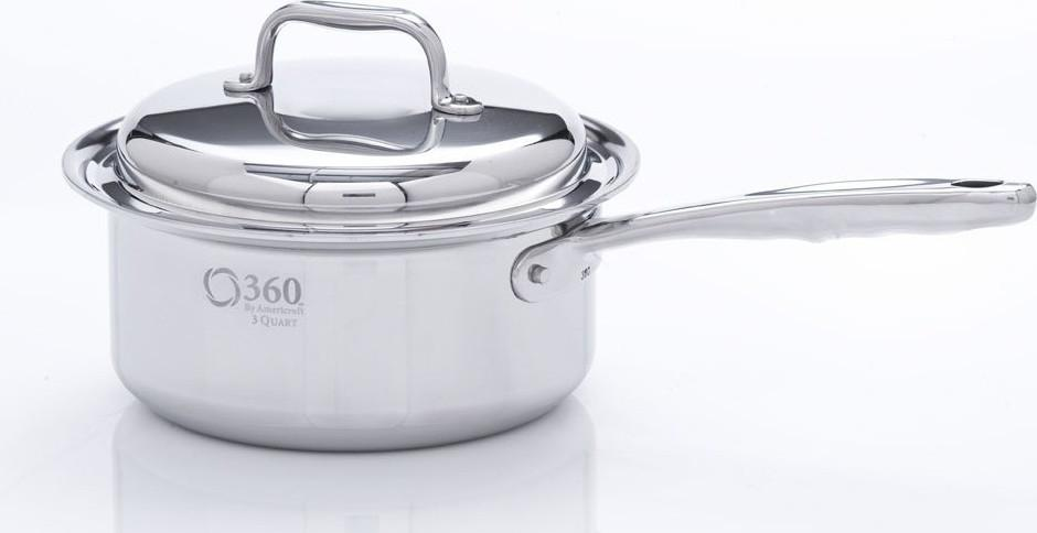 Stainless Steel Saucepan with Cover from 360 Cookware