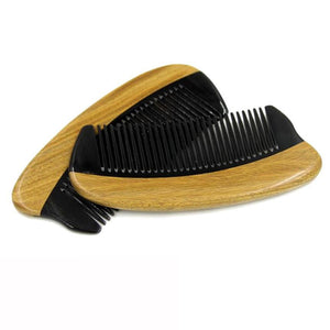 Horn Wood Pocket Beard Hair Comb Fine Tooth Natural Handmade Sandalwood Ox Horn