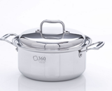 Stainless Steel Stockpot with Cover from 360 Cookware