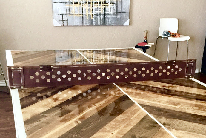 Custom Leather Ping Pong Table Net