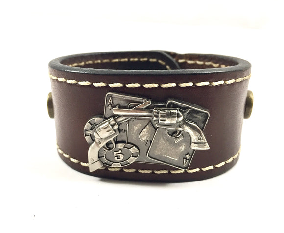 Custom Leather Cuffs / Wristbands
