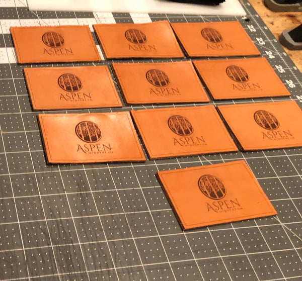 Laser Engraved Leather for weighted bean bags
