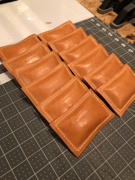 Finished Leather Paper Weights - Back Side