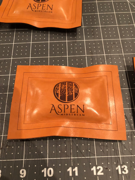 Making laser engraved leather paper weights