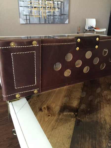 Custom Leather Ping Pong table net gusset