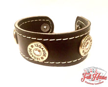 Load image into Gallery viewer, 12-Gauge Shotgun Shell - Leather Wrist Cuff - Full House Custom Leather