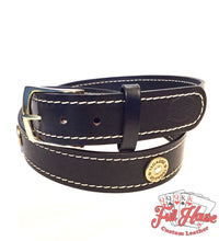 Load image into Gallery viewer, 12-Gauge Shotgun Shell - Mens Leather Belt - Full House Custom Leather