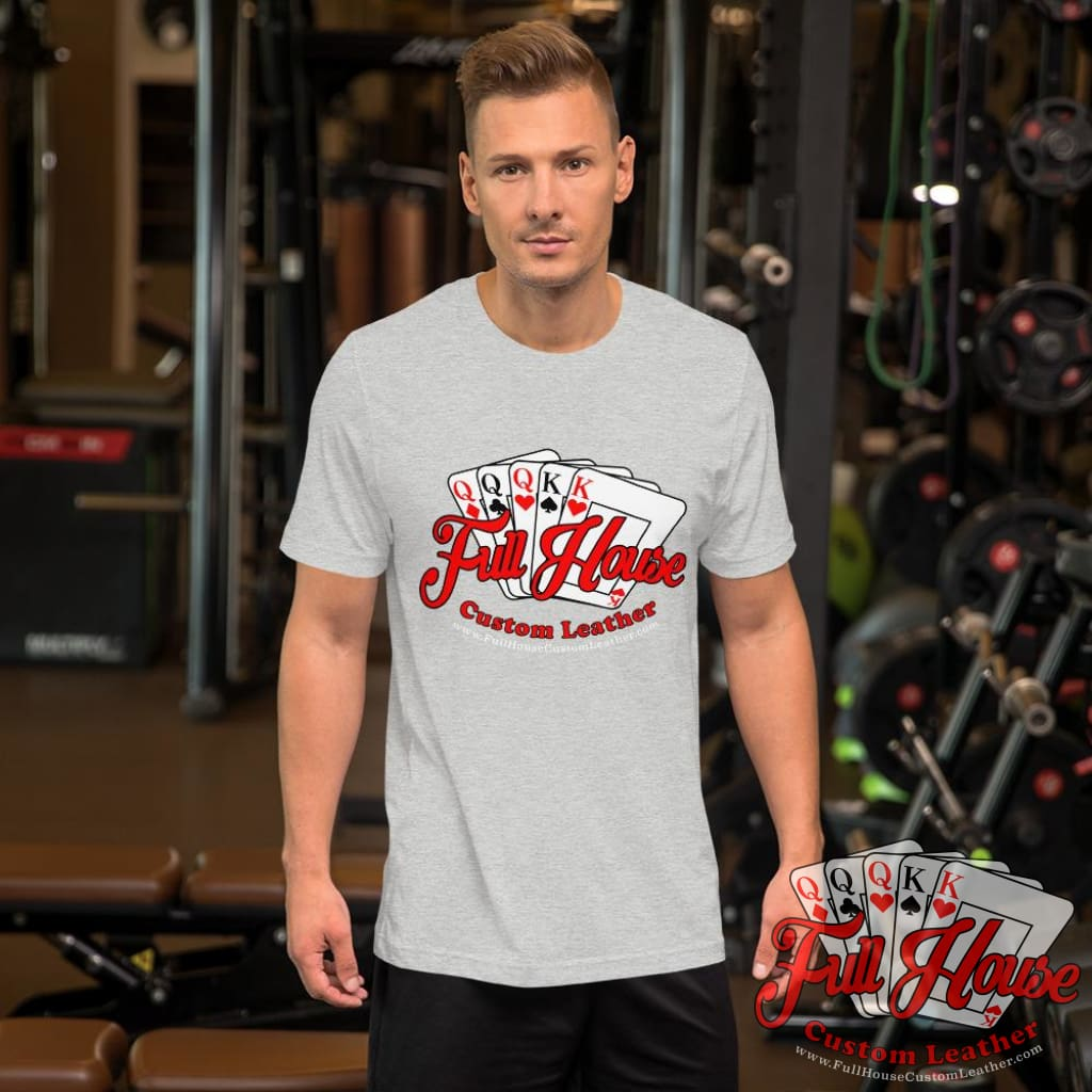 Athletic Grey Logo T-Shirt - Full House Custom Leather