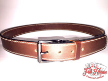 Load image into Gallery viewer, Brown English Bridle - Mens Full Grain Leather Belt - Full House Custom Leather
