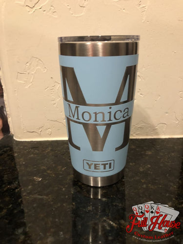BYOT - Tumbler Engraving - Name Only - Full House Custom Leather