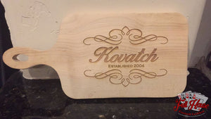 Custom Engraved Maple Cheese Boards - Full House Custom Leather