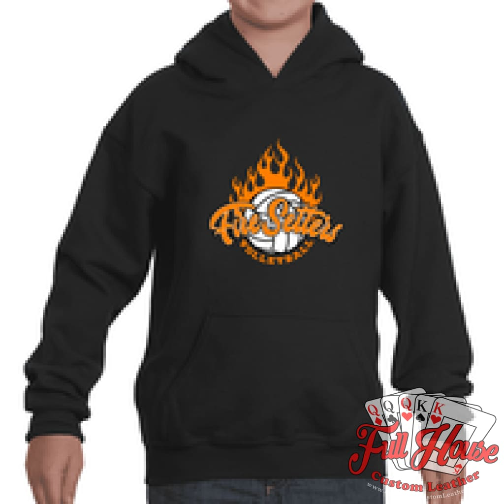 Fire Setters Youth Hoodie - Full House Custom Leather