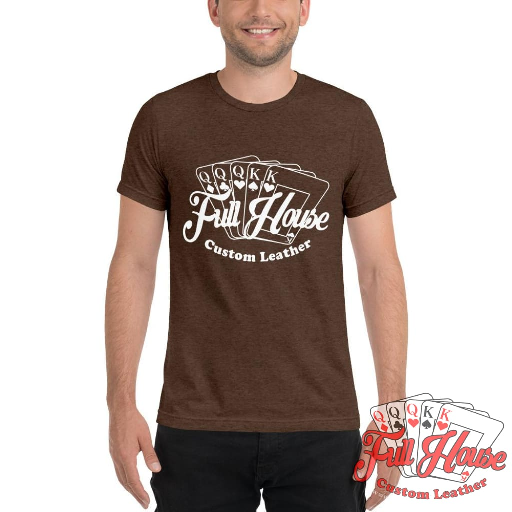 One Color Full House Logo T-Shirt - Full House Custom Leather